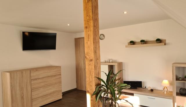 TV im Apartment UTKIEK Aurich Ostfriesland