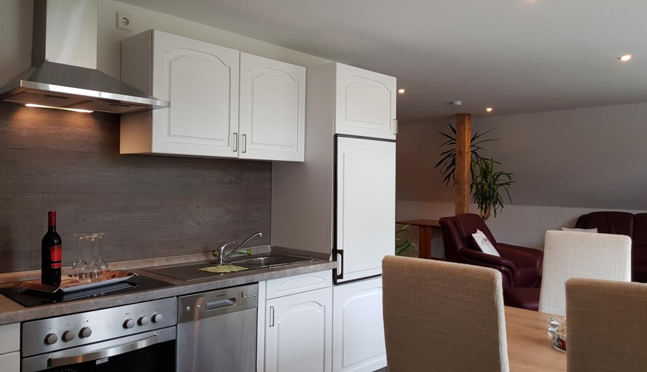 Küche Ferienwohung Apartment UTKIEK Aurich Ostfriesland