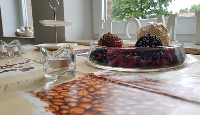 Tischdekoration Ferienwohung Apartment UTKIEK Aurich Ostfriesland
